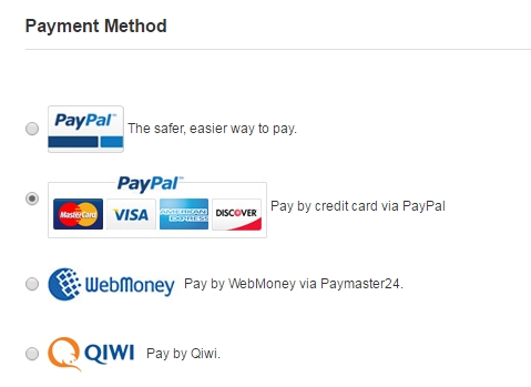 метод оплаты