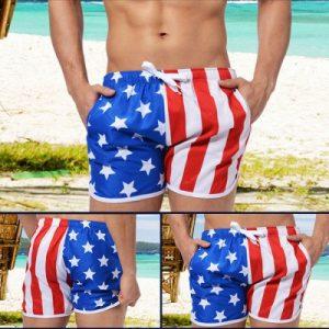 AUSTINBEM Короткие мужские пляжные шорты на шнуровке