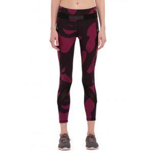 Активный Эластичный Hit Цвет Геометрическая тощие брюки